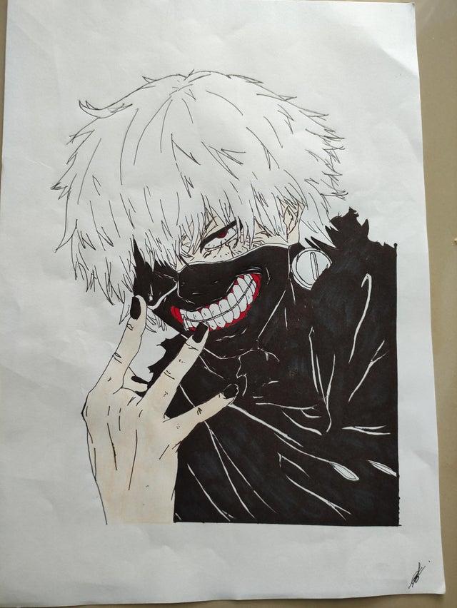 dessin de Kaneki Tokyo Ghoul