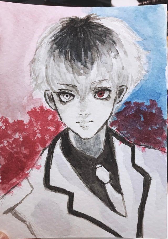 peinture Kaneki Tokyo Ghoul